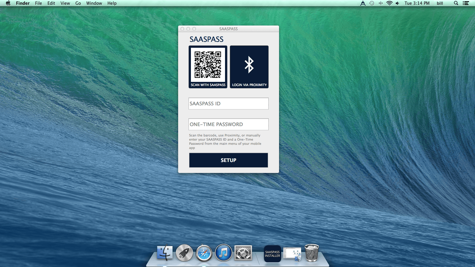 Install desktop and SSO application 2FA for Apple Mac OS X<