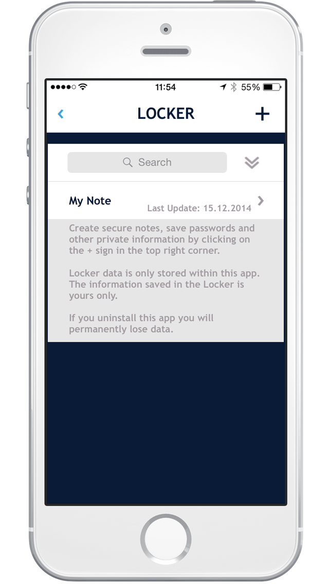 Securely store notes and passwords in an encrypted pin