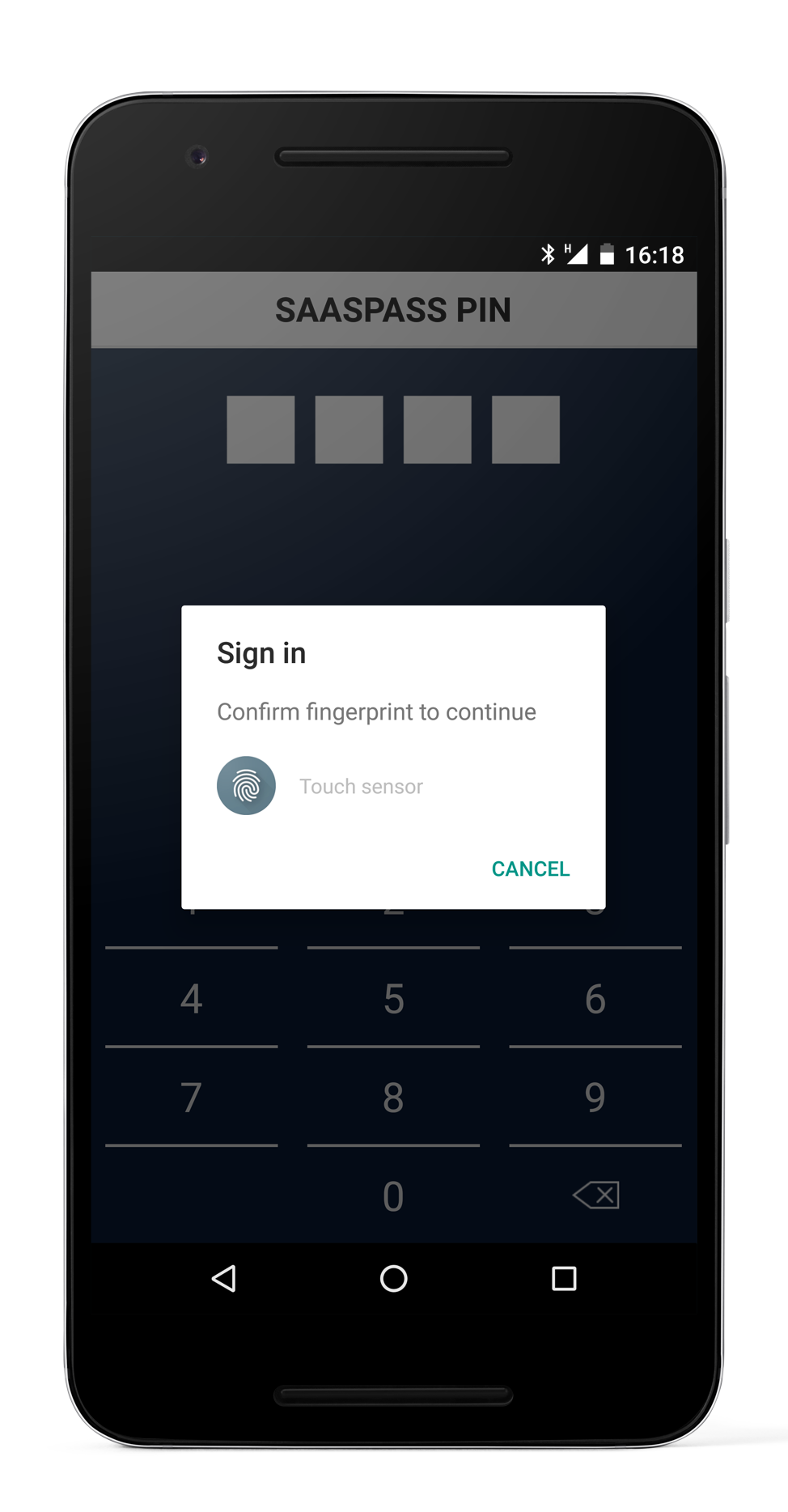 Android Fingerprint with Two Factor Authentication SSO